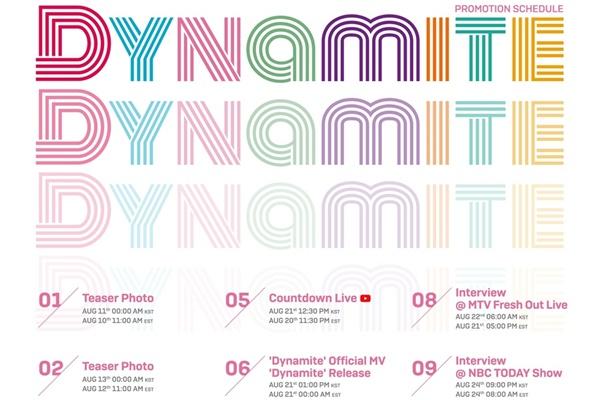방탄소년단, 미국 비디오뮤직어워즈서 '다이너마이트' 첫 무대