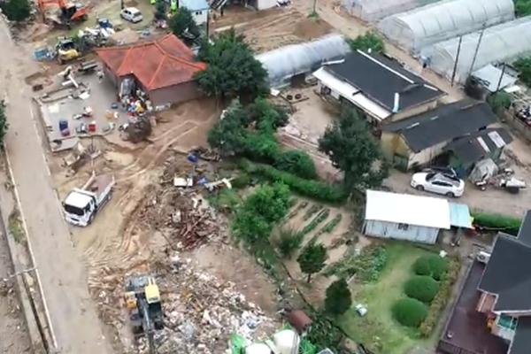 韩国连日遭遇暴雨袭击 16人死亡、11人失踪