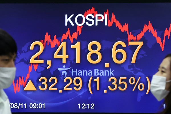 KOSPI Tops 2,400 Points for First Time in 26 Months