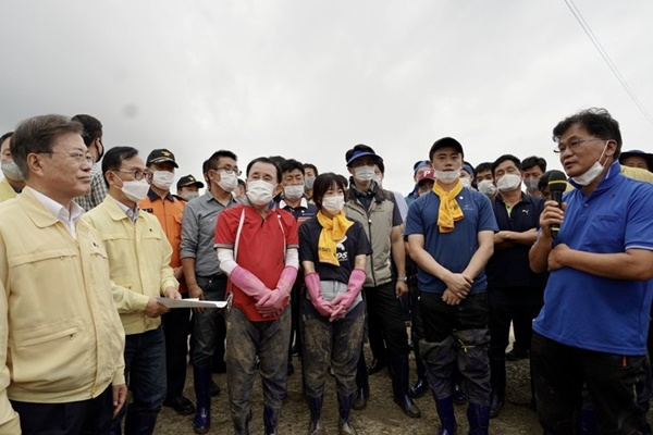 Pres. Moon Declares 11 More Rain-hit Regions as Special Disaster Areas