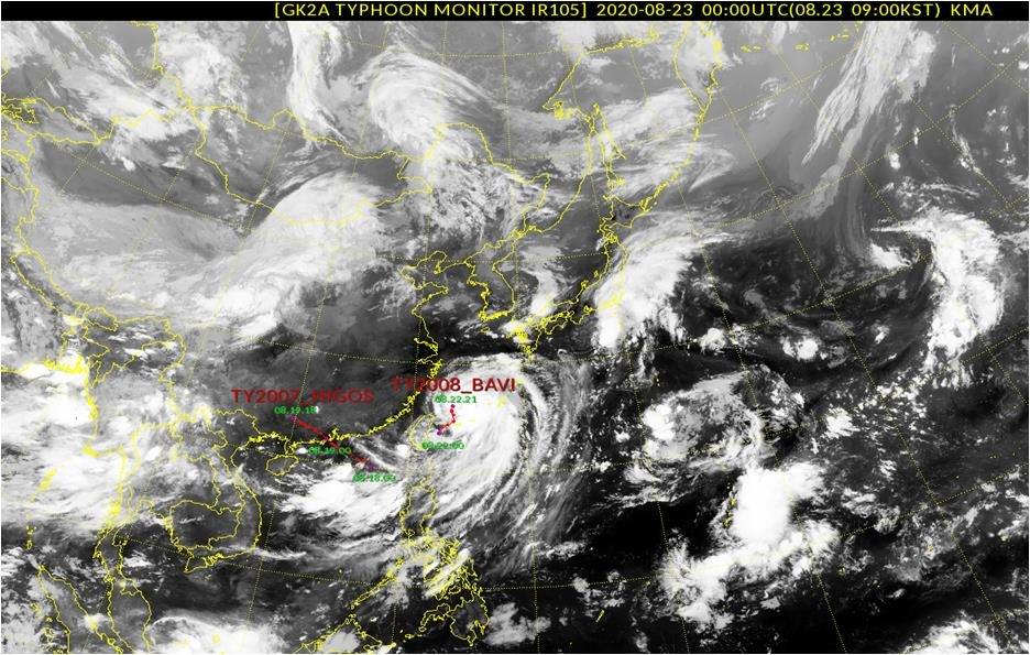 Тайфун «Бави» приближается к острову Чечжудо