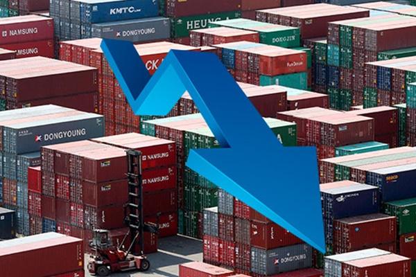 지난해 수출 감소로‥한국경제 무역의존도 3년 만에 최저치