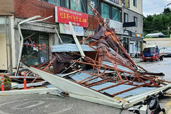 Typhon Maysak : 1 mort et de nombreux dégâts déplorés