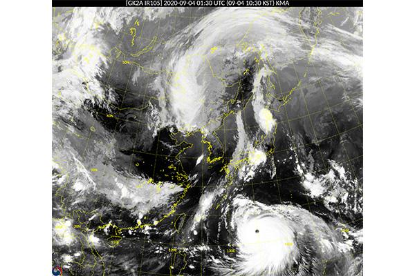 強力な台風10号 7日昼頃に韓国南岸上陸の見通し