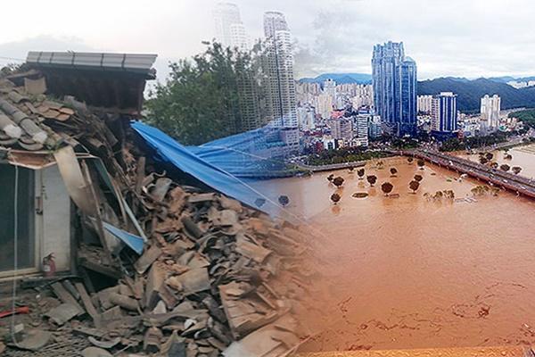 """台风""""海神""""造成韩国2人失踪、5人受伤、100余人受灾"""