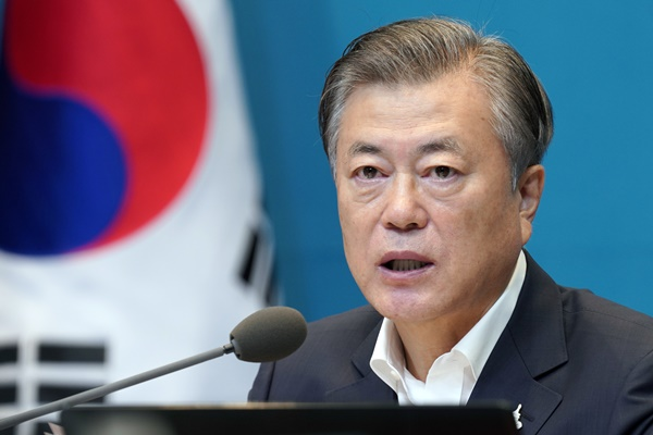 Moon Expects KCDC Promotion to Further Upgrade Infectious Disease Response