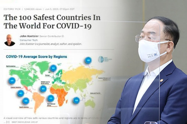Minister Praises S. Korea for Forbes Ranking as 3rd Safest Country for COVID-19
