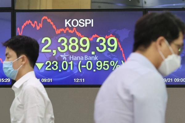 Kospi verliert zum Wochenstart knapp ein Prozent