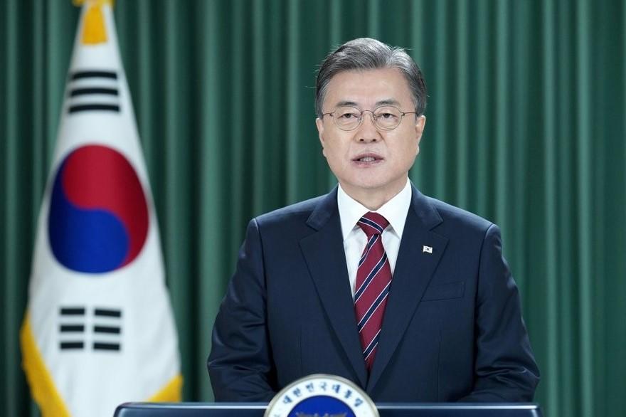 Moon Jae-in s'exprime devant une réunion virtuelle de haut niveau de l'Onu