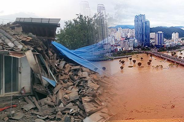 """Hàn Quốc chỉ định thêm 24 khu vực thiệt hại do mưa lớn là """"Khu vực thảm họa đặc biệt"""""""
