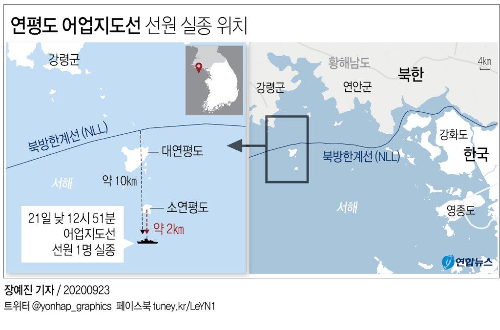 소연평도서 실종 공무원 北해역서 발견 정황…월북 가능성도