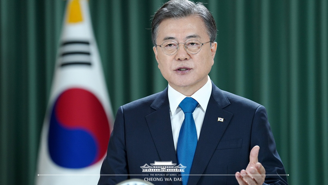 Moon Calls for Ending Korean War to Move toward Denuclearization