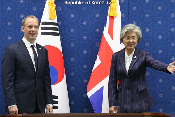 FM Kang, Dominic Raab Hold 5th S. Korea-Britain Strategic Dialogue