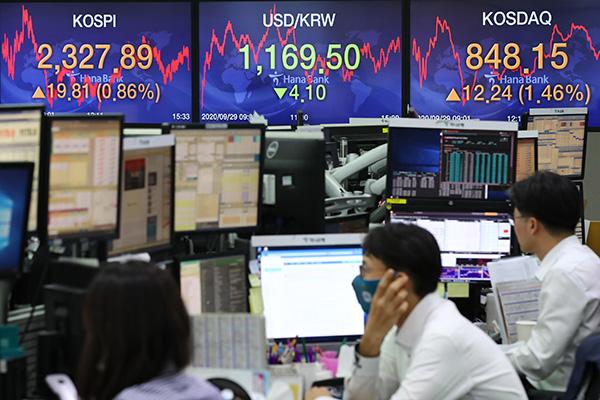 Корейская биржа закрылась на подъёме