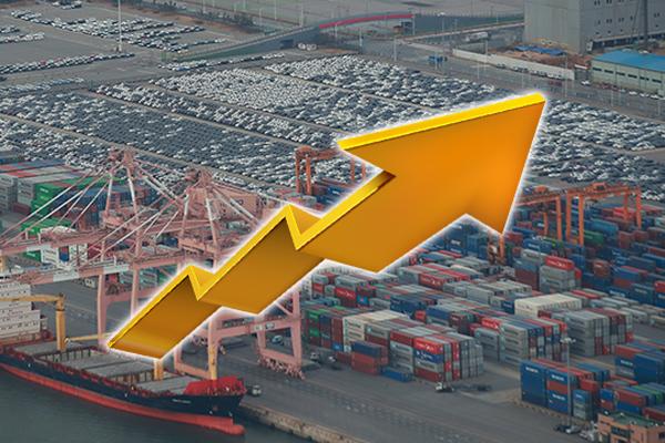 지난달 수출 7.7%↑…코로나 이후 7개월 만에 반등