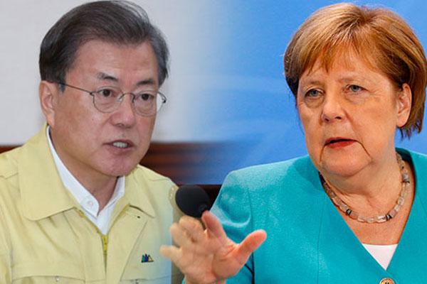 文在寅1日与德国总理默克尔通话