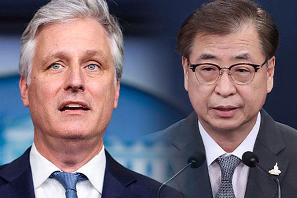 Suh Hoon et Robert O'Brien conviennent de multiplier les concertations bilatérales