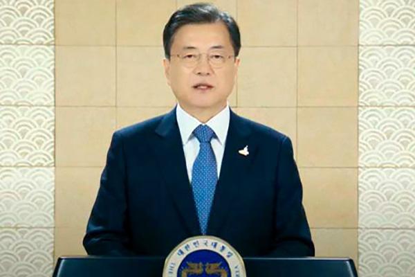 """Tổng thống Moon Jae-in: """"Thắt chặt hợp tác liên minh Hàn-Mỹ vì mục tiêu tuyên bố hòa bình bán đảo Hàn Quốc"""""""