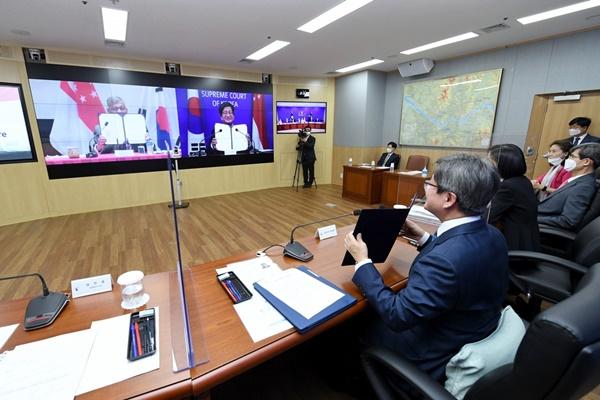 韓国・シンガポール 司法協力で了解覚書を締結
