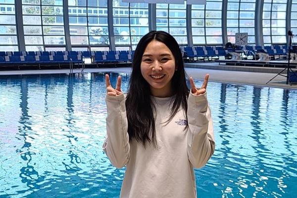 '세계선수권 다이빙 첫 메달' 김수지, 올해 첫대회 1m 스프링 금메달