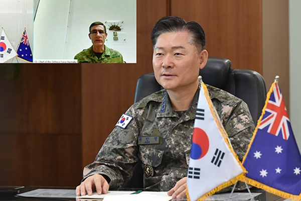 韩国与澳大利亚联合参谋本部议长通话 商讨加强军事交流合作