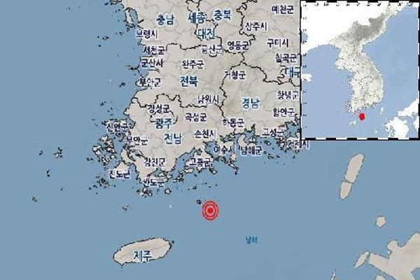 전남 여수시 거문도 부근 해역에서 규모 2.1 지진