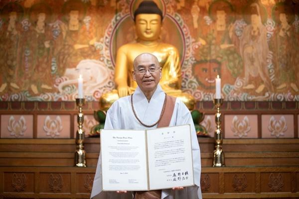 Một thiền sư Hàn Quốc được trao giải thưởng hòa bình