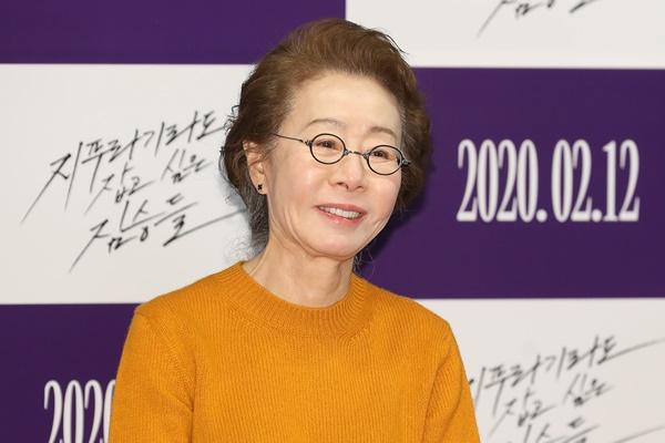 Schauspielerin Youn Yuh-jung zur Teilnahme an Oscar-Verleihung abgereist