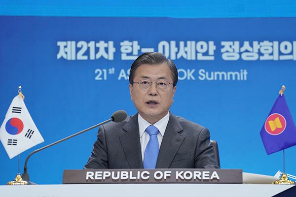 東アジアサミット 文大統領「終戦宣言」支持を呼びかける