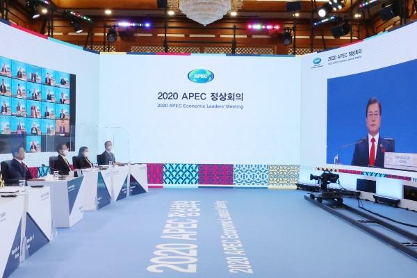 Tổng thống Hàn Quốc nhấn mạnh tới hợp tác quốc tế khắc phục COVID-19 tại Hội nghị thượng đỉnh APEC
