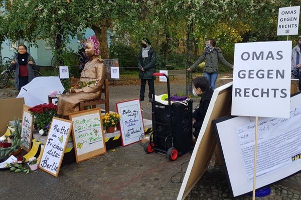 Tượng Thiếu nữ Hòa bình được quyết định dựng vĩnh viễn tại Đức