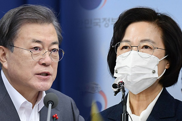 Pres. Moon Briefed on Committee Decision to Suspend Top Prosecutor
