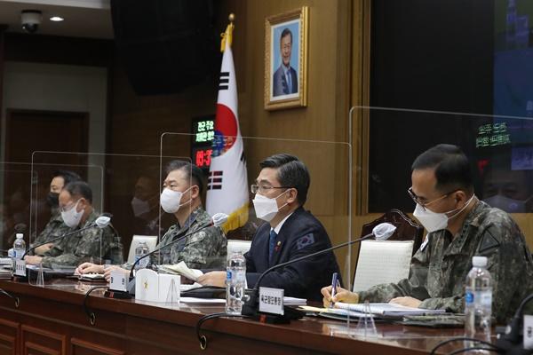"""서욱 국방장관 """"북한, 군사력 지속 증강"""""""