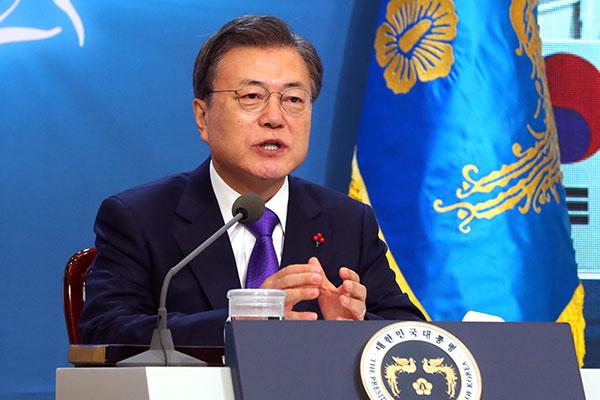 Tổng thống Hàn Quốc cam kết tiêm phòng miễn phí vắc-xin COVID-19 toàn dân
