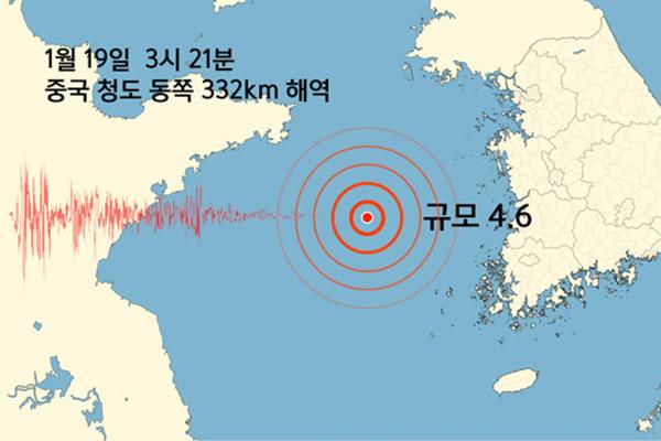 Gempa 4,6 SR Dilaporkan di Laut Kuning