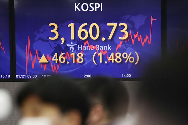 KOSPI Perbarui Rekor Tertinggi pada 21 Januari