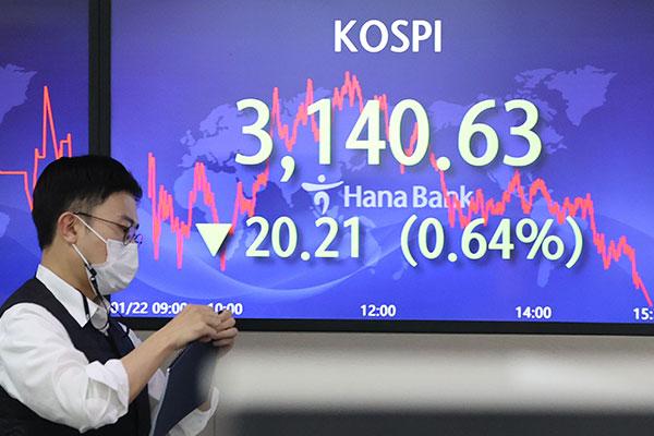 KOSPI Ditutup Turun 0,64% pada 22 Januari