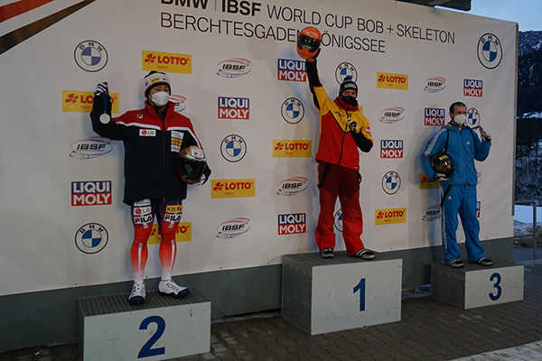 Skeleton Racer Yun Wins Silver in IBSF World Cup