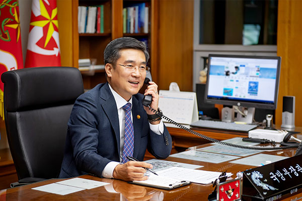 韓国国防部長官 米の新任国防長官と電話会談