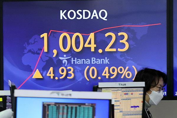 Bourse : le Kosdaq franchit la barre des 1 000 points en cours de séance