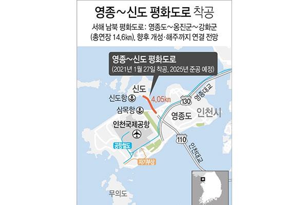 永宗島と信島繋ぐ「南北平和道路」 27日に着工式