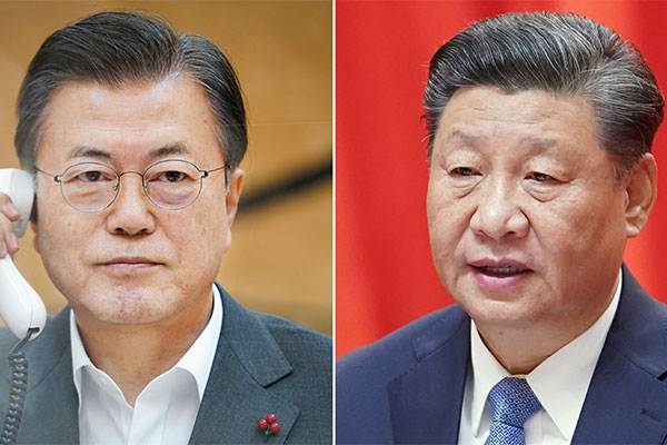Xi Supports Moon's Peace Process Involving N. Korea's Denuclearization