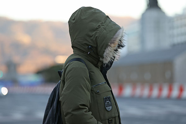 На юг Корейского полуострова надвигается холодный фронт