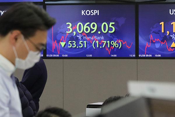 KOSPI Ditutup Turun 1,71% pada 28 Januari