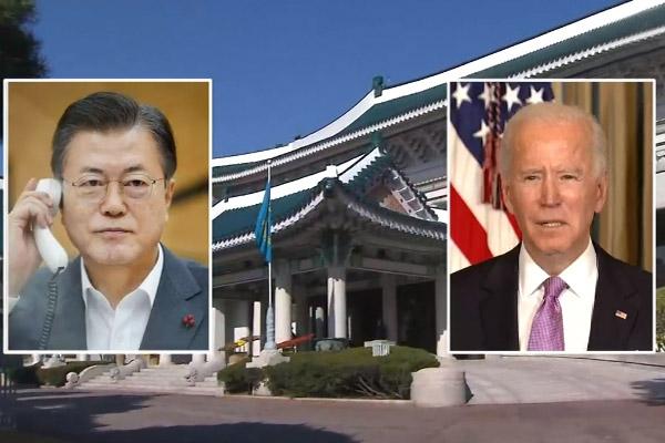 Tổng thống Moon Jae-in lần đầu điện đàm với tân Tổng thống Mỹ Joe Biden