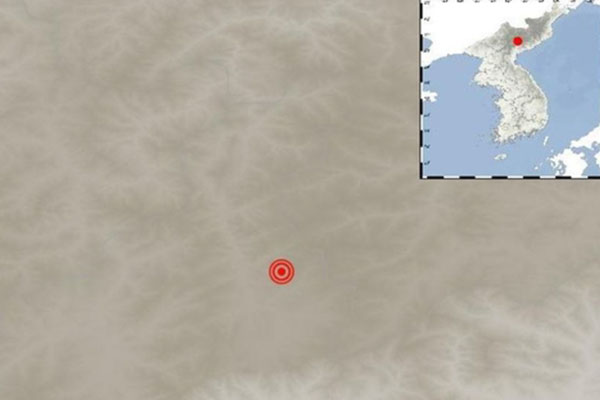 زلزالان طبيعيان يضربان تشانغ جين في كوريا الشمالية