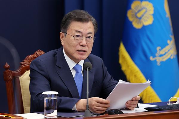 """Tổng thống Moon Jae-in: """"Hệ thống giãn cách xã hội sửa đổi sẽ áp dụng từ tháng 3"""""""