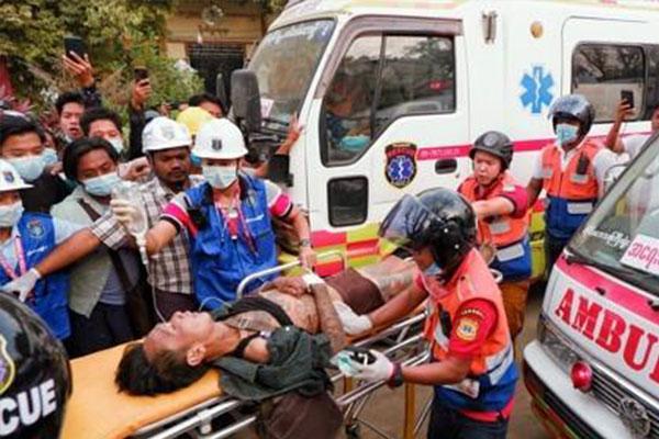 ミャンマー・クーデターへの抗議デモで多数死亡 韓国政府「深い懸念」