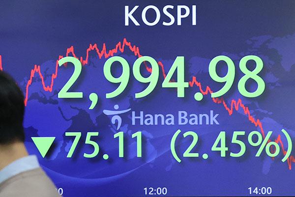 Börse in Seoul verliert über zwei Prozent