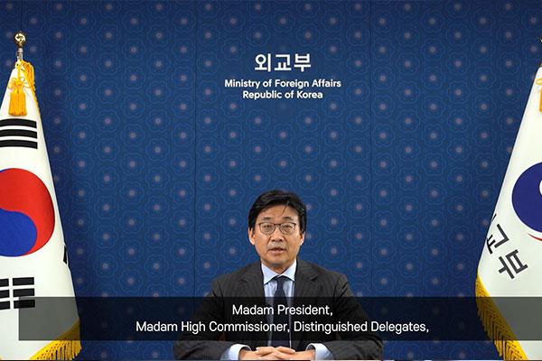 Alto cargo de Seúl habla ante ONU sobre víctimas de esclavitud sexual